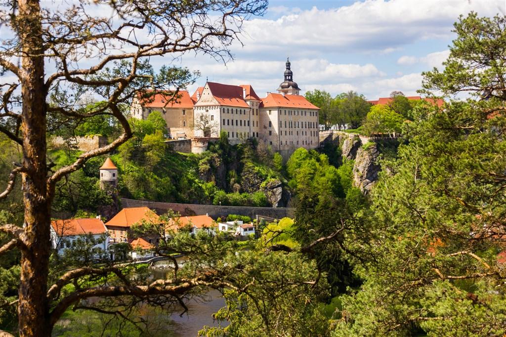Česká republika Jižní Čechy Bechyně - pohled na město